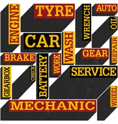 auto service words poster vector image vector image