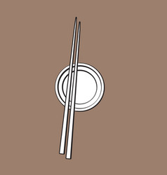 bamboo asian chinese japanese chopsticks lying vector image