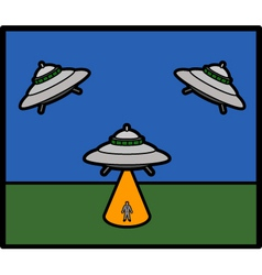 Basic UFO vector image vector image