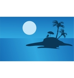 Beautiful islands silhouette for summer holiday vector