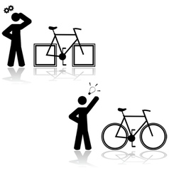 Bicycle problem vector