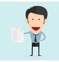 cartoon with paper note in flat design vector image vector image