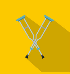 Crutches icon flat style vector