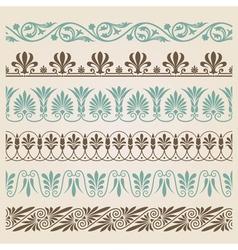 Decorative seamless borders set vector