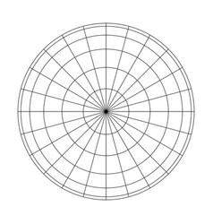 earth planet globe grid of meridians and parallels vector image