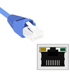 Ethernet cable port vector image
