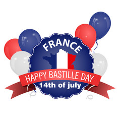 Happy bastille day poster in vintage style vector