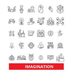 imaginationcreativity inspirationinnovation vector image vector image