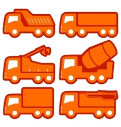 industrial transport set vector image