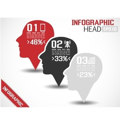 INFOGRAPHIC HEAD GREY vector image vector image