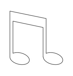 Music note accord song icon vector