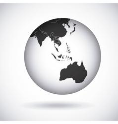 Oceania continent design vector
