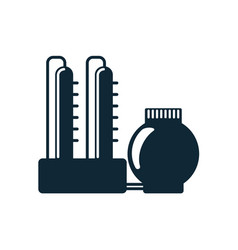 oil refinery simple flat icon pictogram vector image vector image