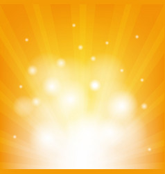 Orange background with beams vector