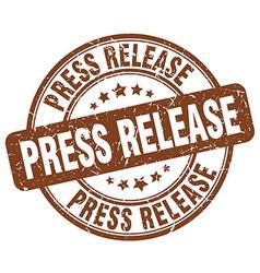 Press release brown grunge round vintage rubber vector