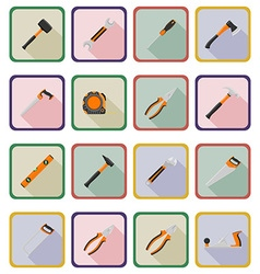 Repair tools flat icons 20 vector