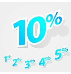 set of labels percent vector image vector image