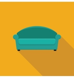 Stylized flat icon sofa vector image vector image