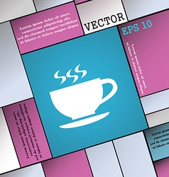 The tea and cup icon sign Modern flat style for vector image