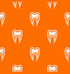 Tooth cross section pattern seamless vector
