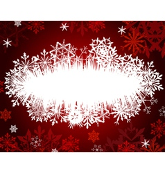 wiinter christmas frame vector image vector image