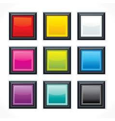 Square empty buttons vector image