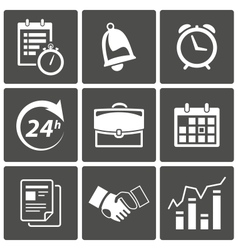 Business Time icons vector image