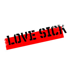 Love sick rubber stamp vector