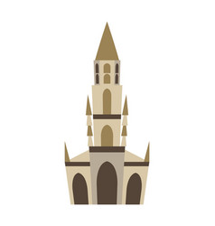 Bern minster isolated historic architecture vector