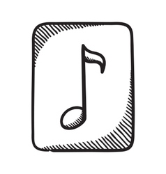Multimedia music audio note symbol vector