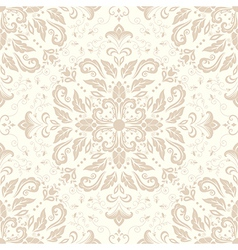 Vintage damask seamless pattern element vector image