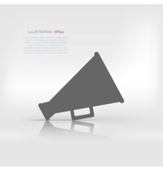 Megaphone loudspeaker icon loud-hailer symbol vector