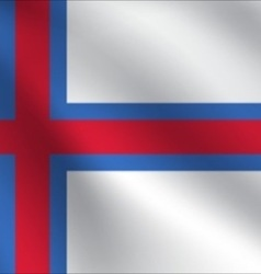 Faroe islands flag vector