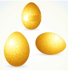 Golden eggs vector