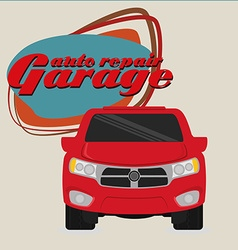 Garage design vector