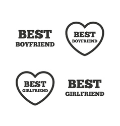 Best boyfriend and girlfriend icons vector