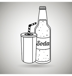 Beverage flat icon design vector