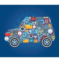 Car shape concept background vector