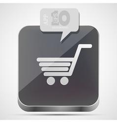 Shopping app icon vector