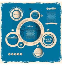 Vintage web design bubbles vector image