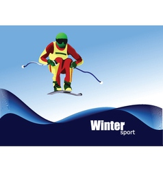 Winter sports skiing vector