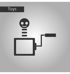 black and white style toy box vector image vector image