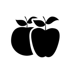 black differents apples icon vector image vector image
