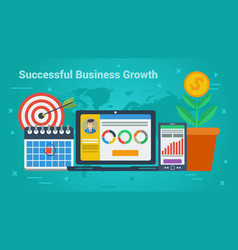 Business banner - successful business growth vector