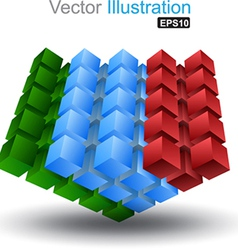 Cube colour vector