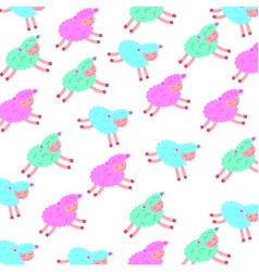 Cute lamb character pattern vector