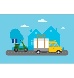 Delivery transport cargo logistic vector image vector image