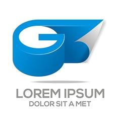 Design global letter g vector