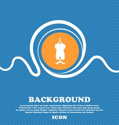 Dress icon sign blue and white abstract background vector