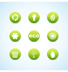 ecology icon set for green design vector image vector image